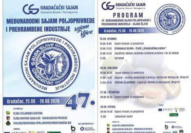 """Program 47. tradicionalnog Međunarodnog sajma poljoprivrede i prehrambene industrije """"Sajam šljive"""""""